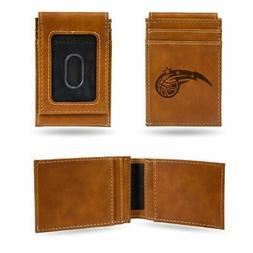 Orlando Magic NBA Laser Engraved Brown Front Pocket Wallet/M