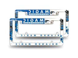 Orlando Magic NBA  Chrome Metal License Plate Frames with Bo
