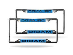 Orlando Magic NBA  EZ View Chrome Metal Laser Cut License Pl