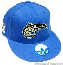 Orlando Magic NBA Adidas Solid Blue Flat Brim Visor Hat Cap