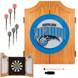 Orlando Magic NBA Wood Dart Cabinet Set