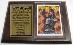 Orlando Magic Shaquille O'Neal Basketball Card Plaque