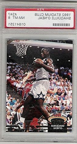 Shaquille O'Neal Orlando Magic1992 Stadium Club #247 PSA Gra