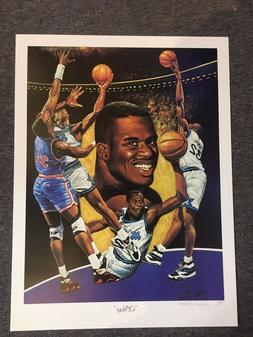 shaquille O'NEAL rookie LITHOGRAPH signednumbered by ANGELO