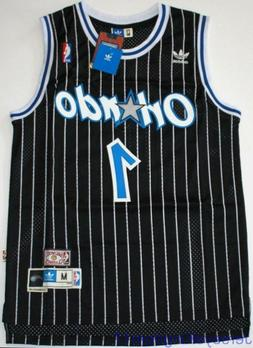 Throwback Hardwood Jersey TRACY McGRADY 1 Orlando Magic Blac