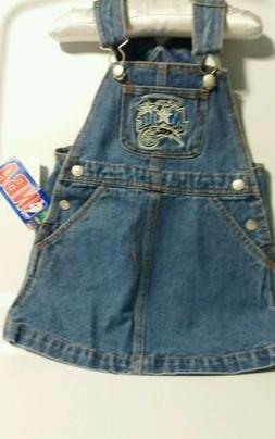 Reebok Throwback Orlando Magic Logo Girl's  Denim Overall Dr
