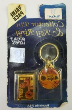 Vintage Orlando Magic Collector Pin & Key Ring WinCraft Penn