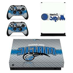 XBOX ONE X - Orlando Magic - Vinyl Protector Skin + 2 Contro